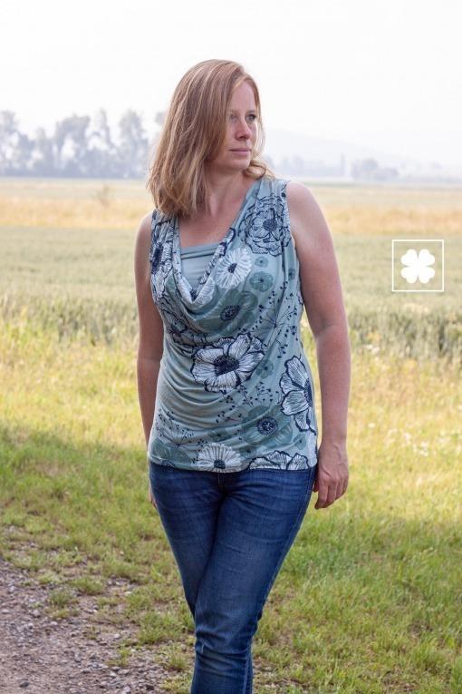Kaskadd Shirt Julia Bürkner 02 - Antonia Montano - Schnittmuster