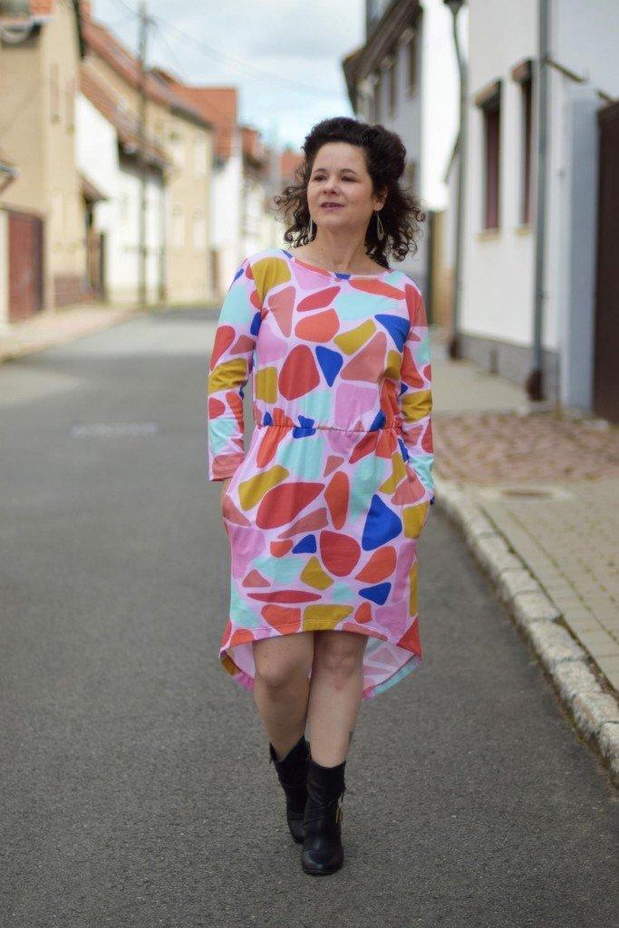 Kleid20 lange Ärmel Taschen Salome 02 - Antonia Montano - Schnittmuster
