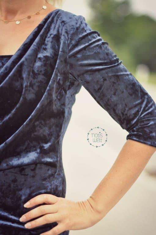 Kaskadd Kleid mit Ärmel Notburga Emrich 02 - Antonia Montano - Schnittmuster