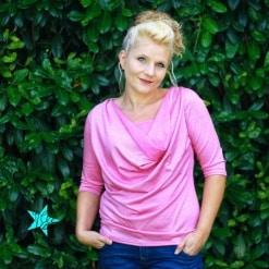 Kaskadd Shirt mit Ärmel Ilka Sänger 01 - Antonia Montano - Schnittmuster