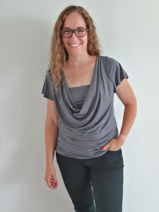 Kaskass Shirt mit Ärmel Salome Schadegg Füchslin tragdeinkind 01 - Antonia Montano - Schnittmuster